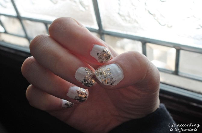 Gold & White Manicure 2