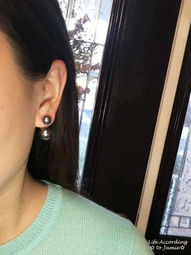 Suspended Double Pearl Earring 1