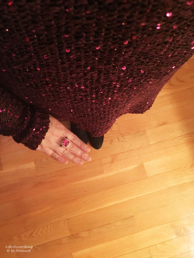 Pink Sequins & Ring