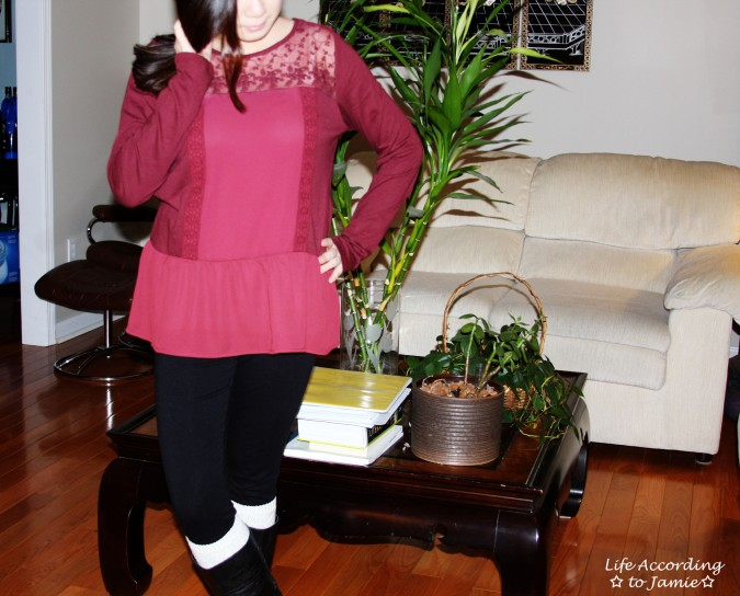 Red Lace Yoke Peplum 2