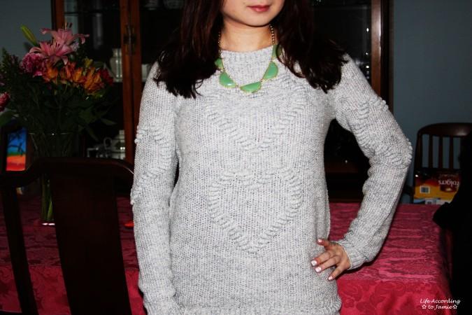 Heart Knit Sweater 1