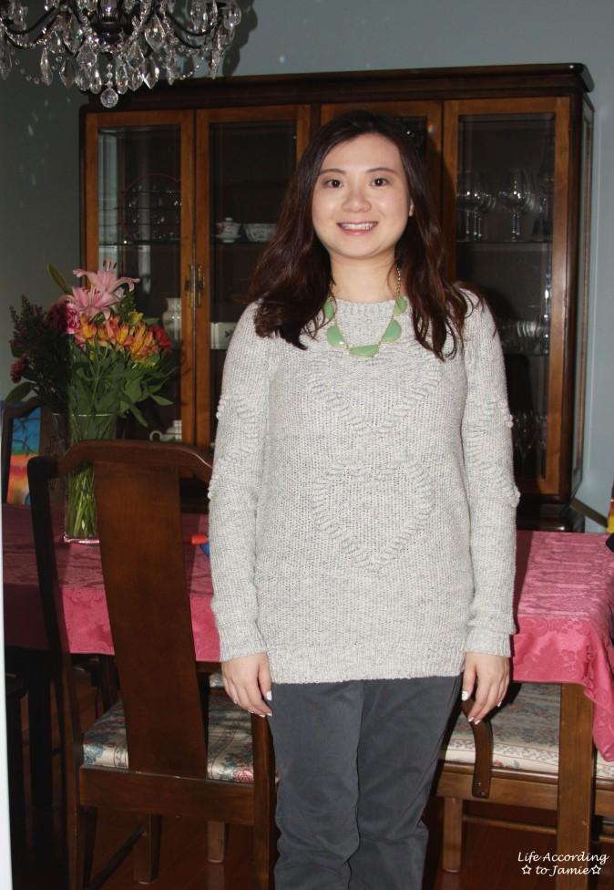 Heart Knit Sweater 2