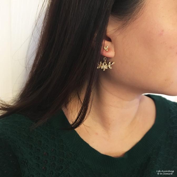 Floral Dangling Ear Jacket - Style 2