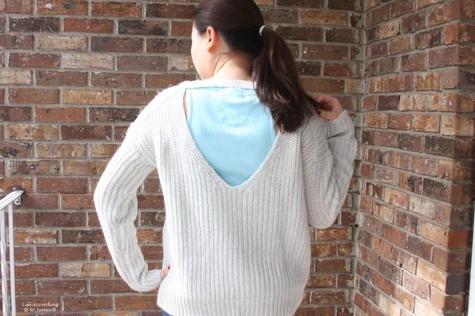 Open-Back Shaker Knit 1
