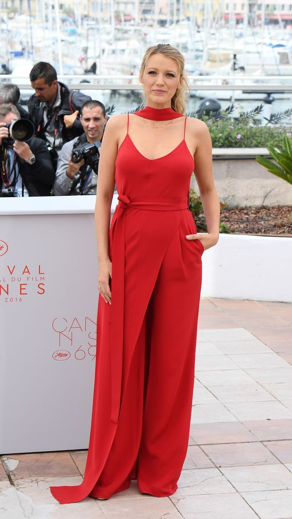 Blake Lively - Red Jumpsuit