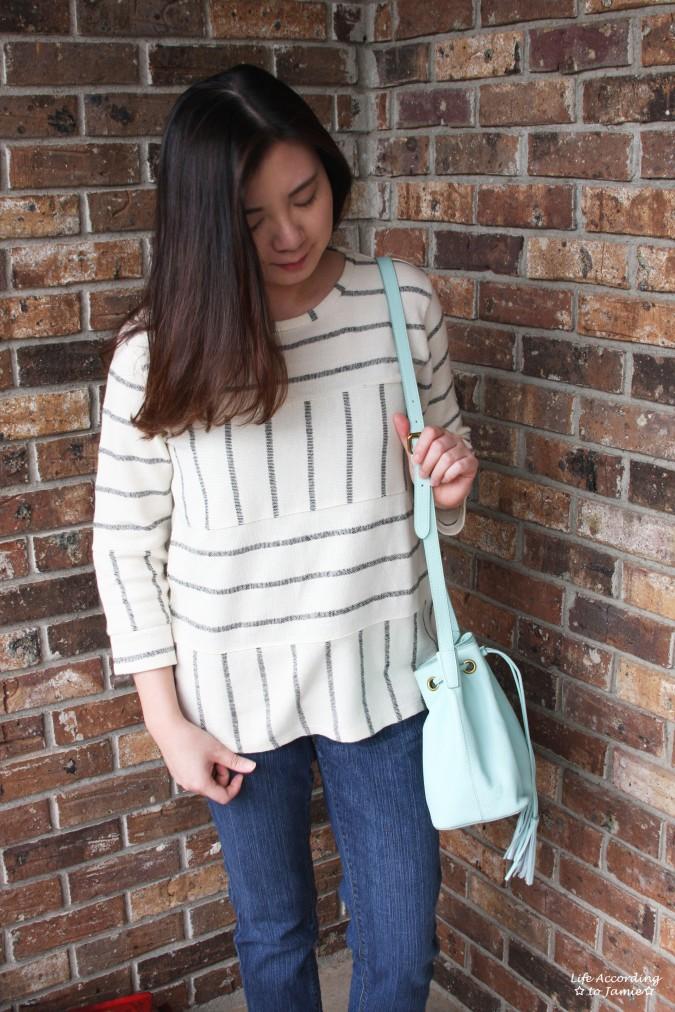 Mint Cream Bucket Bag 1