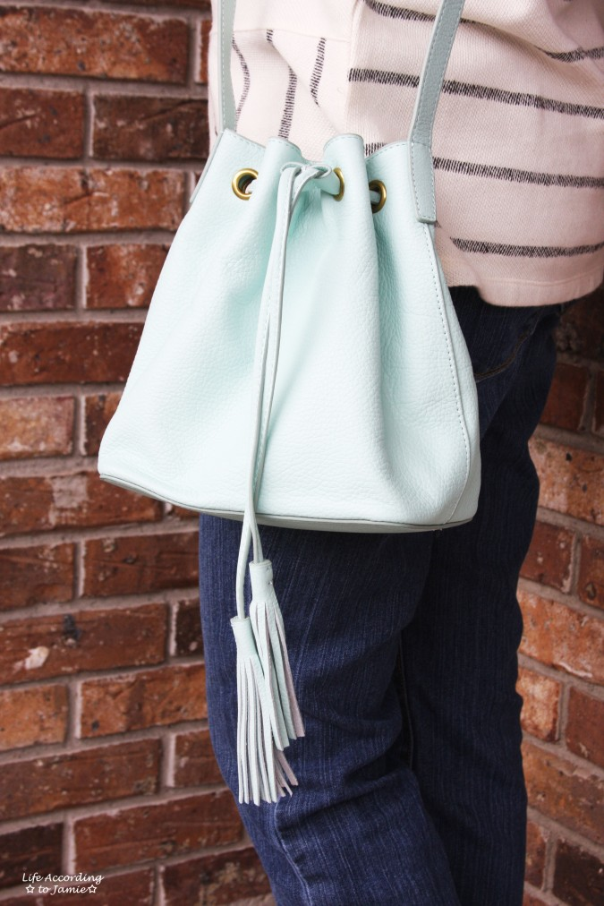Mint Cream Bucket Bag 3