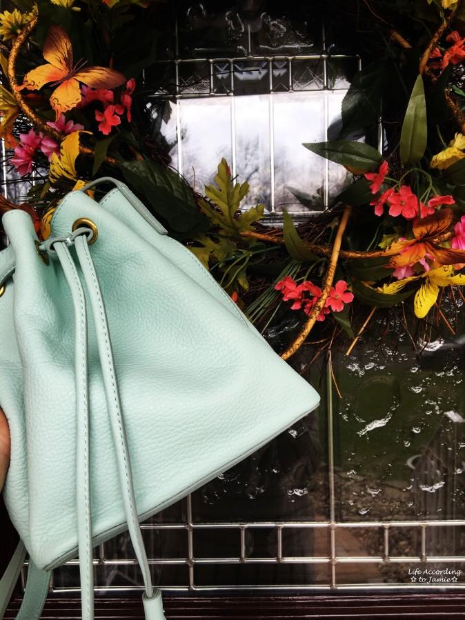 Mint Cream Bucket Bag 6