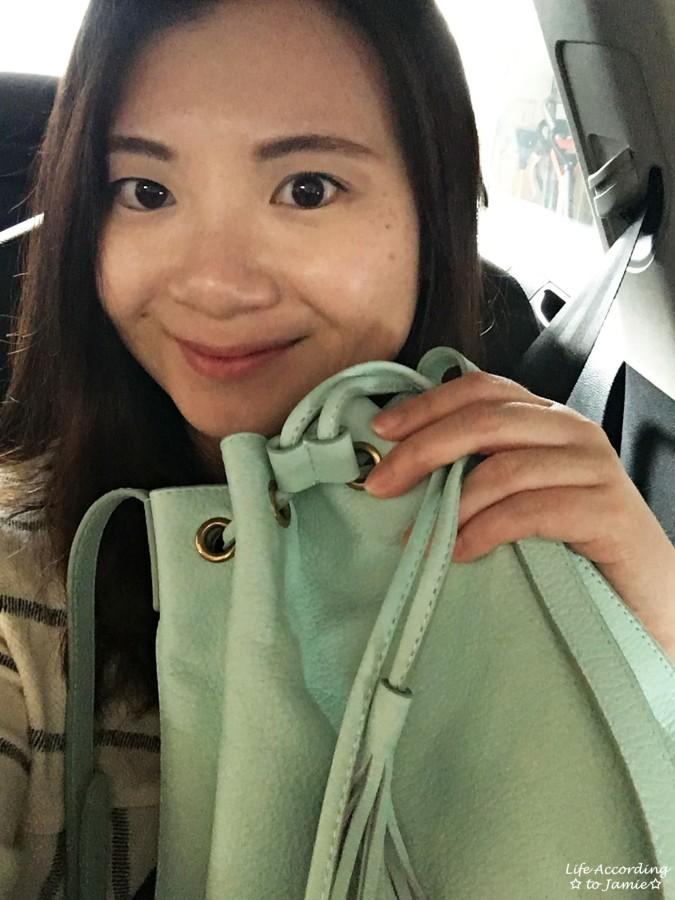 Mint Cream Bucket Bag 7