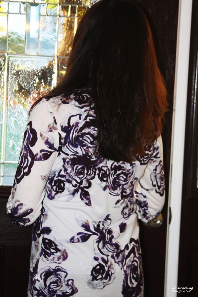 Purple Floral Top 1