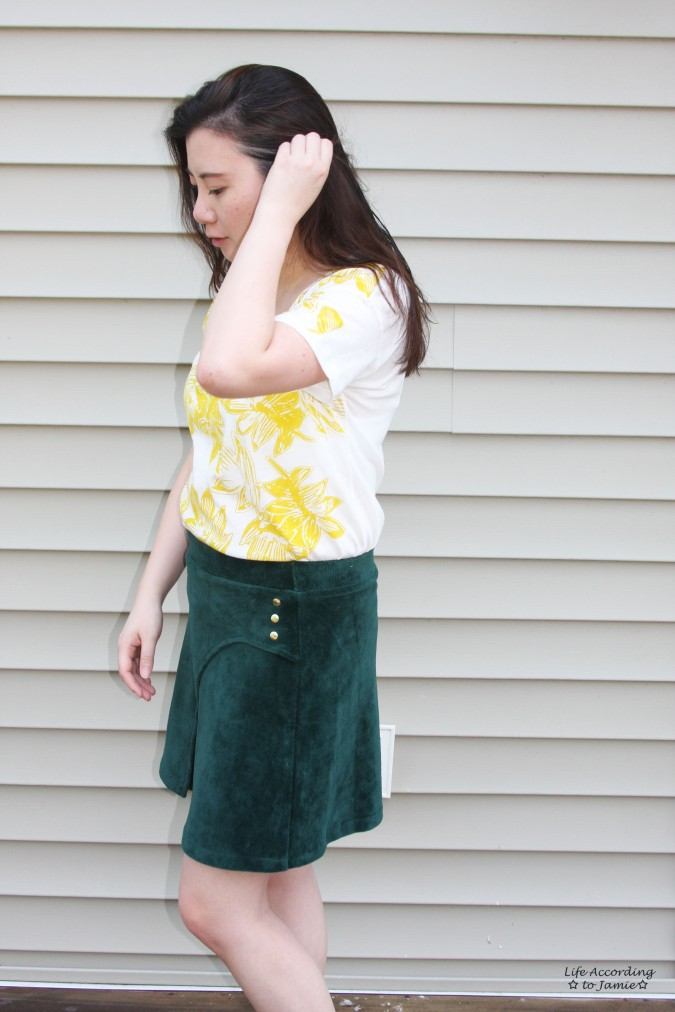 Curved Button Wrap Skirt 3