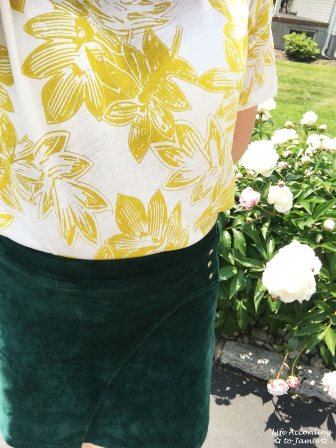 Curved Button Wrap Skirt 5