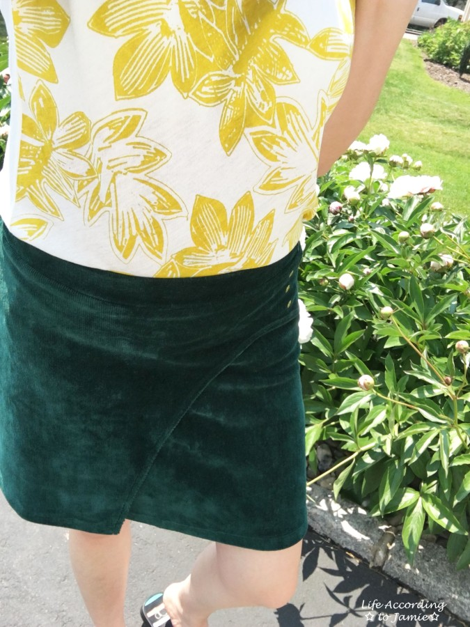 Curved Button Wrap Skirt