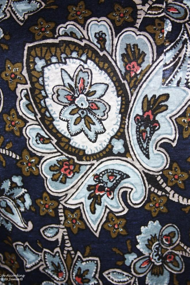 Navy Blue Floral Tee