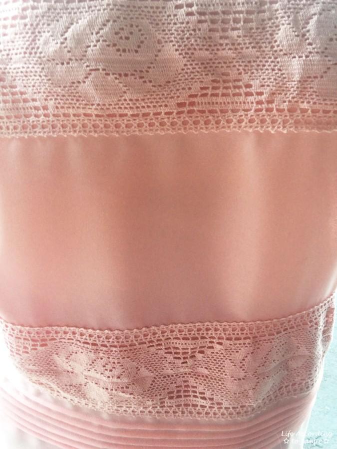 Powder Pink Lace Stripes 1