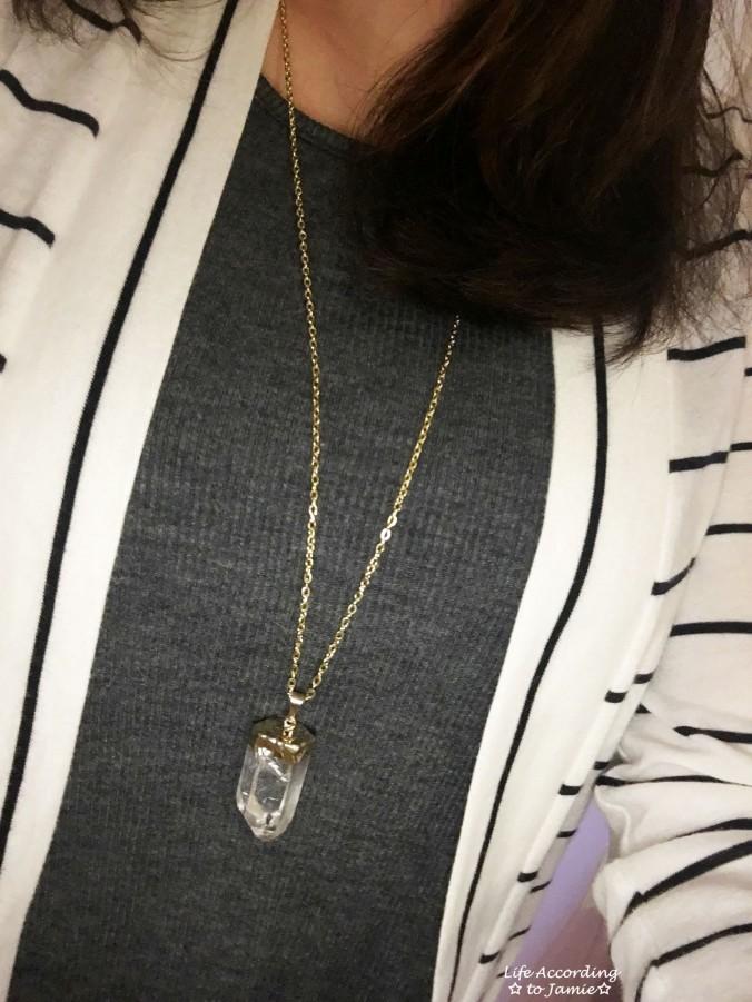 Stripes & Quartz Necklace 1