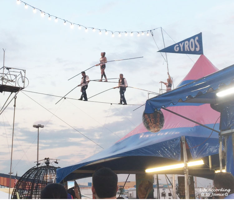 Tightrope Walkers at NJ State Fair