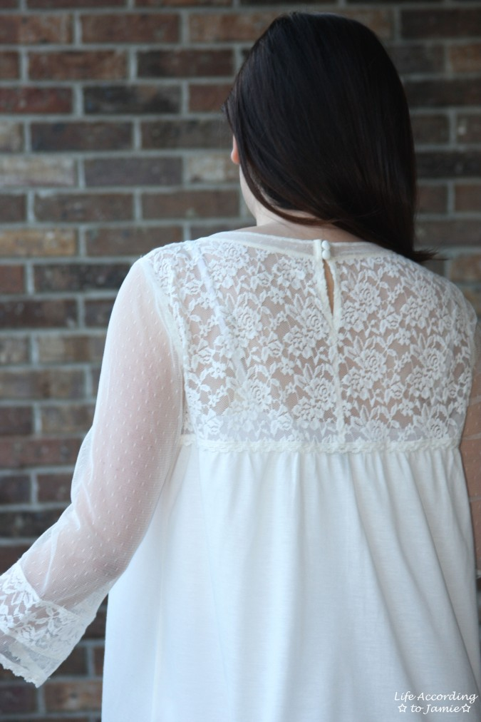 Crochet & Lace Topped Blouse 1