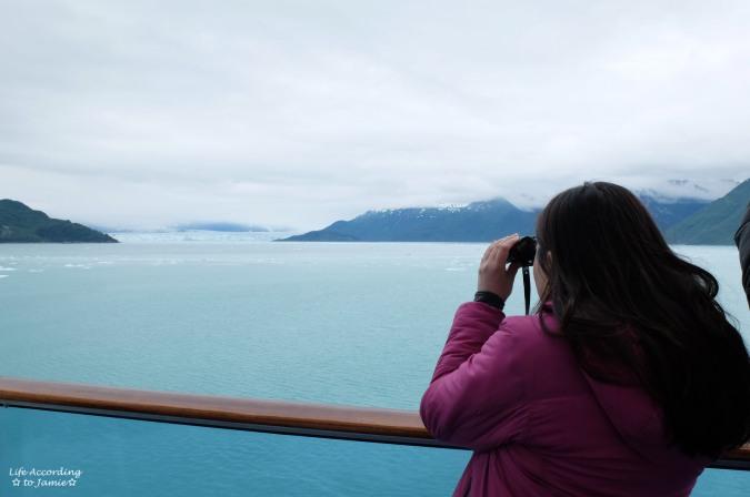 Looking at Hubbard Glacier