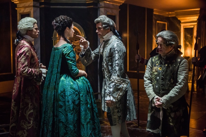 Outlander-green cape dress