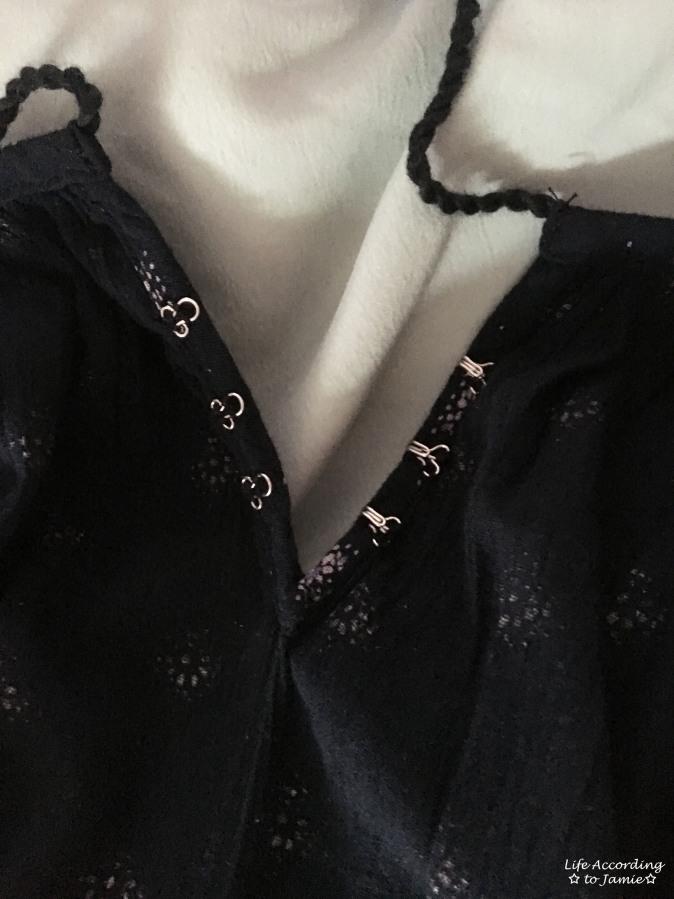 Patterned Off the Shoulder Dress - Hook & Eye Closure