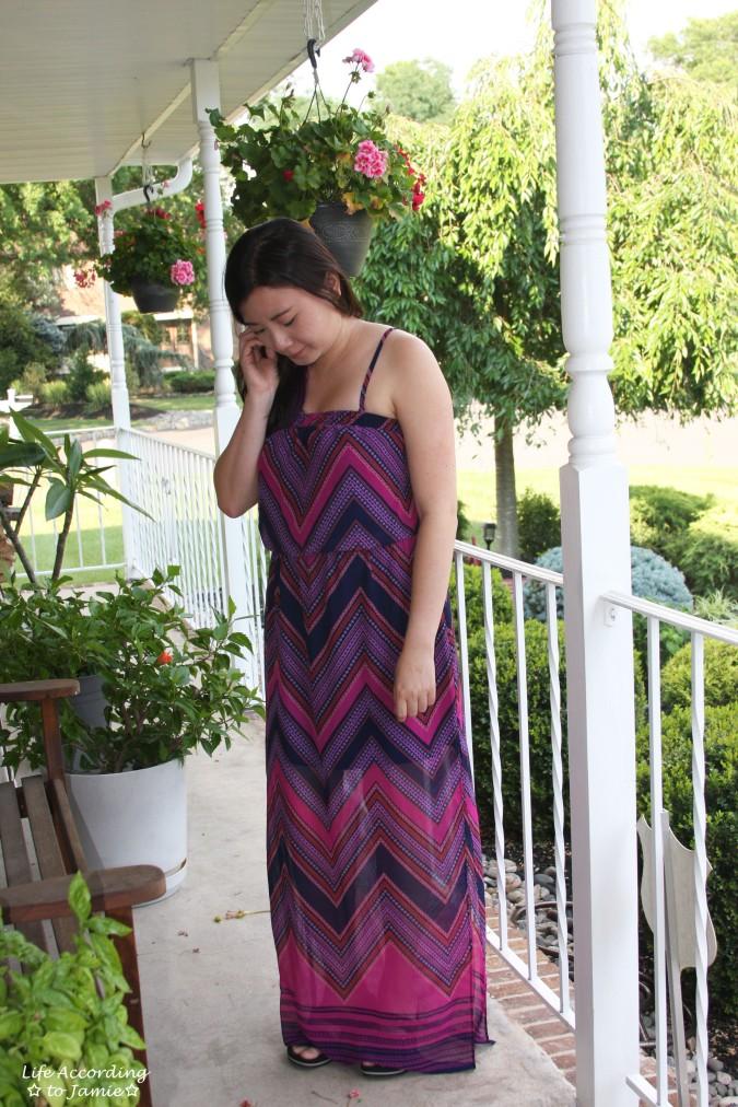 Scarf Print Maxi Dress 1
