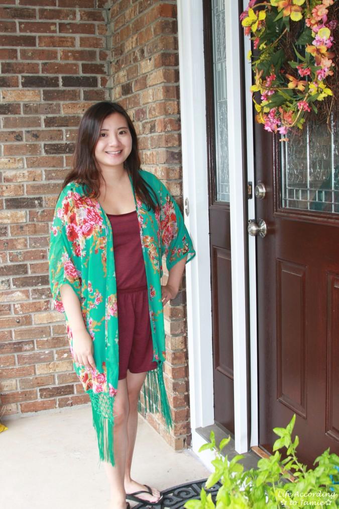 Floral Fringed Kimono 1