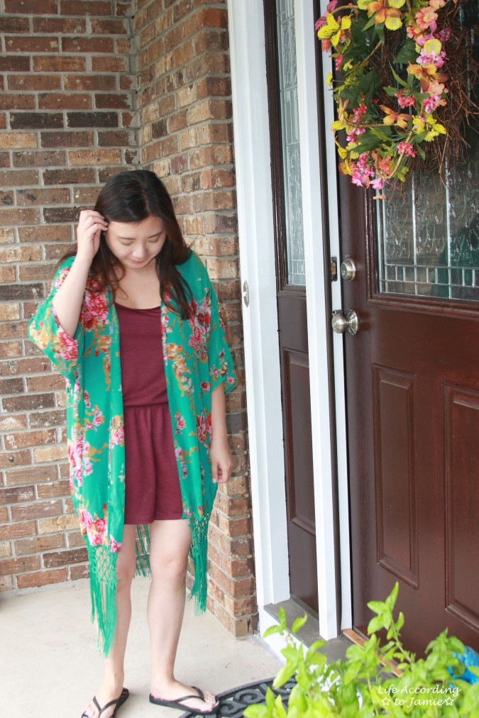 Floral Fringed Kimono 2