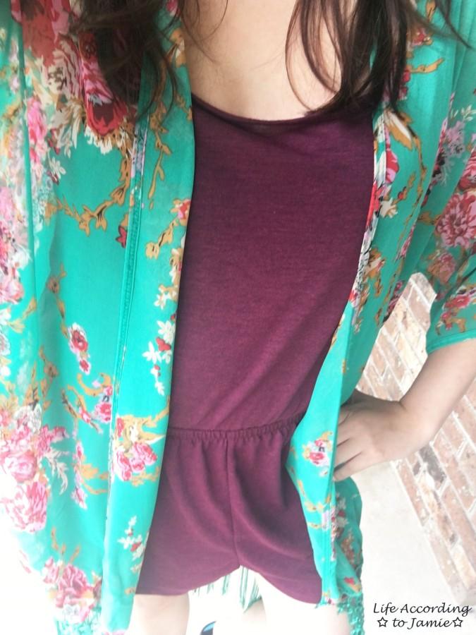 Floral Fringed Kimono 3
