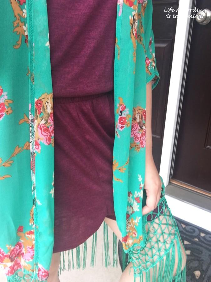 Floral Fringed Kimono 5