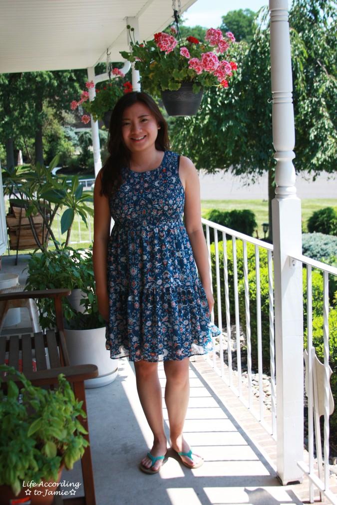 Floral Smocked Babydoll Dress