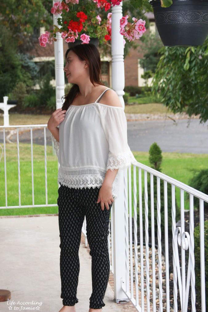 lace-off-the-shoulder-diamond-print-pants-1