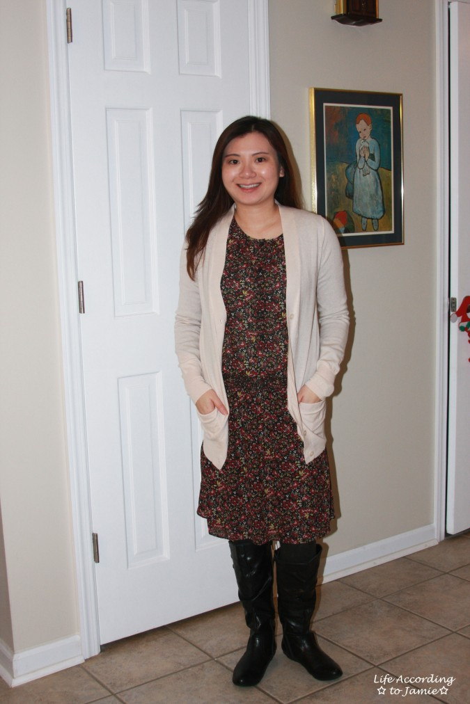 hydrangea-print-blouson-dress-cardigan