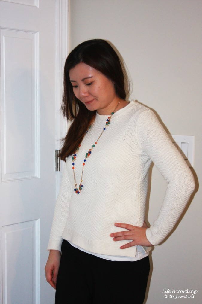 Chevron Texture Sweater 1