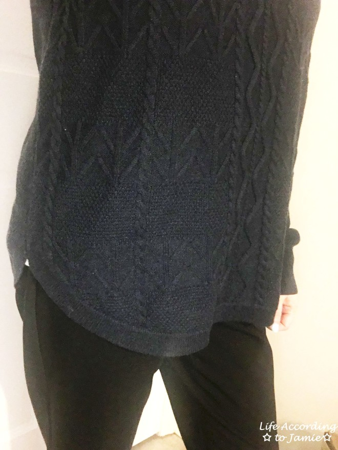 Curved Hem Cable Knit