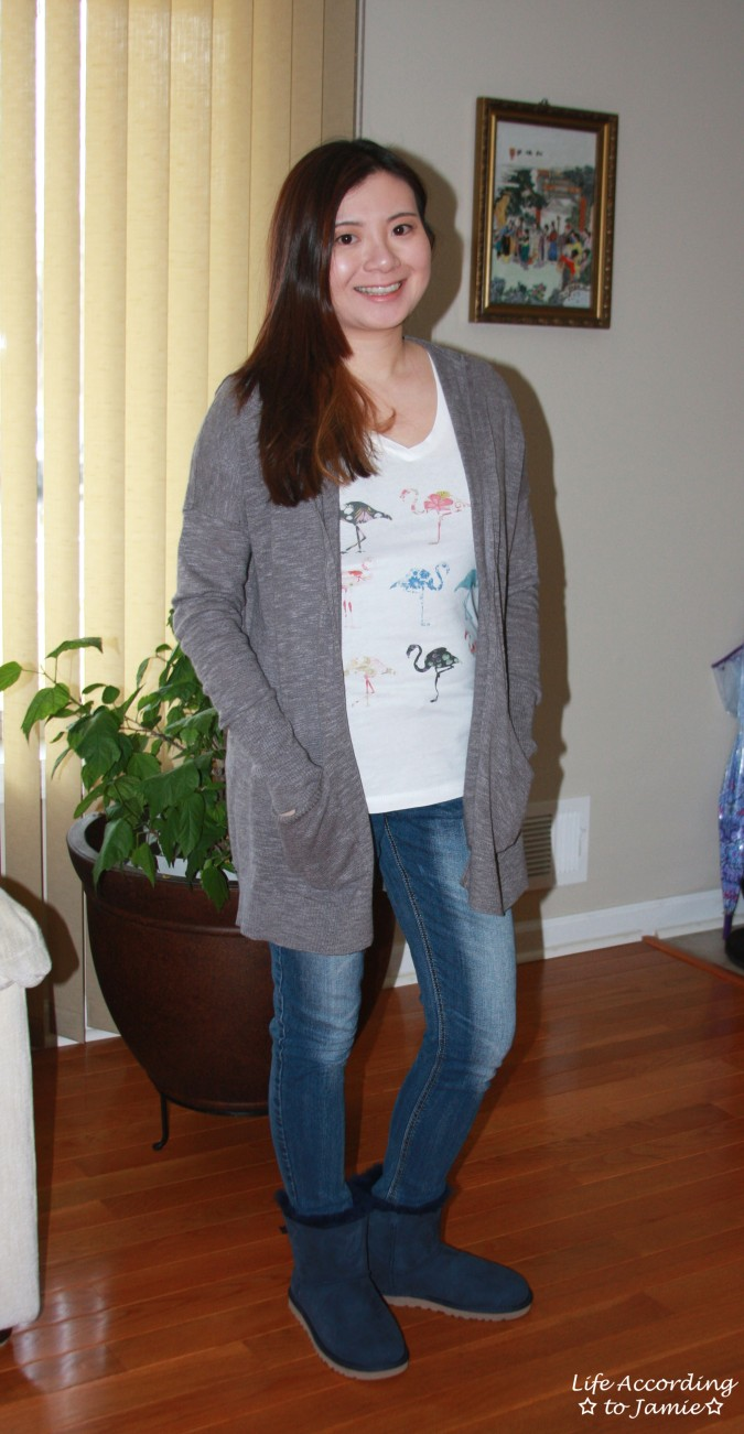 Hooded Cardigan + Flamingo Tee 2