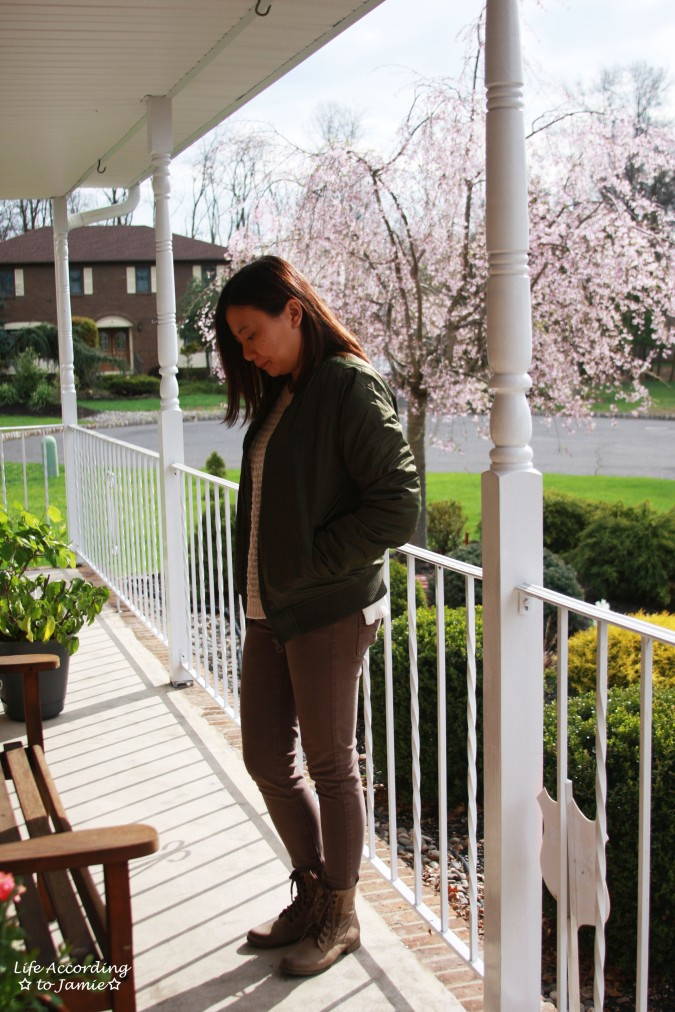 Khaki Green Bomber Jacket 6