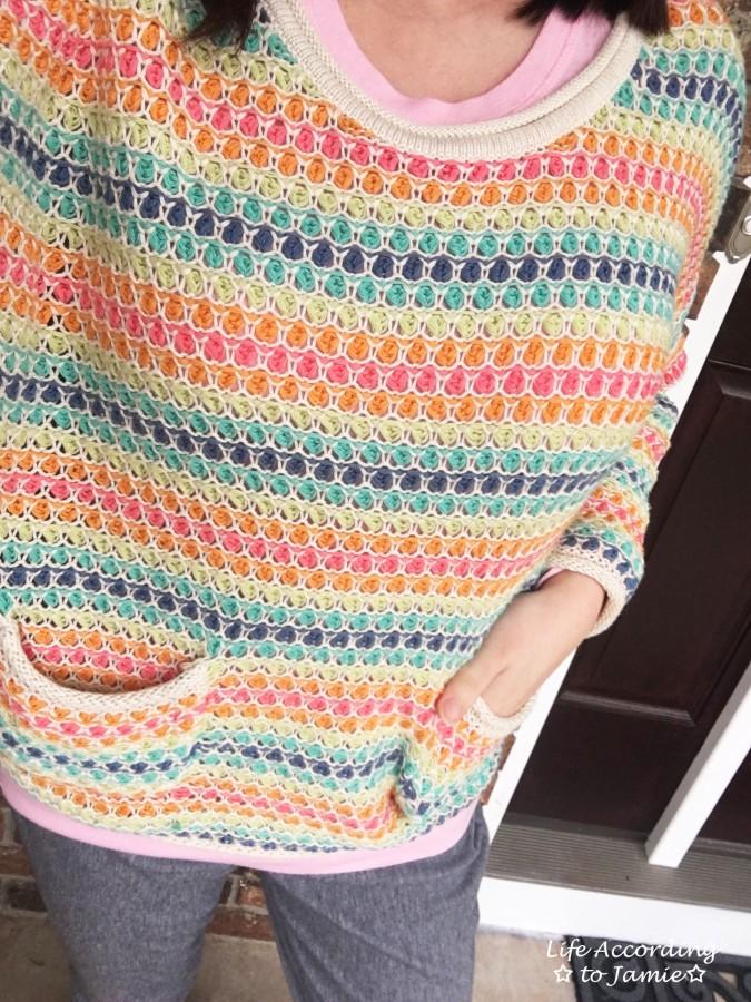 Rainbow Breezy Pullover 1