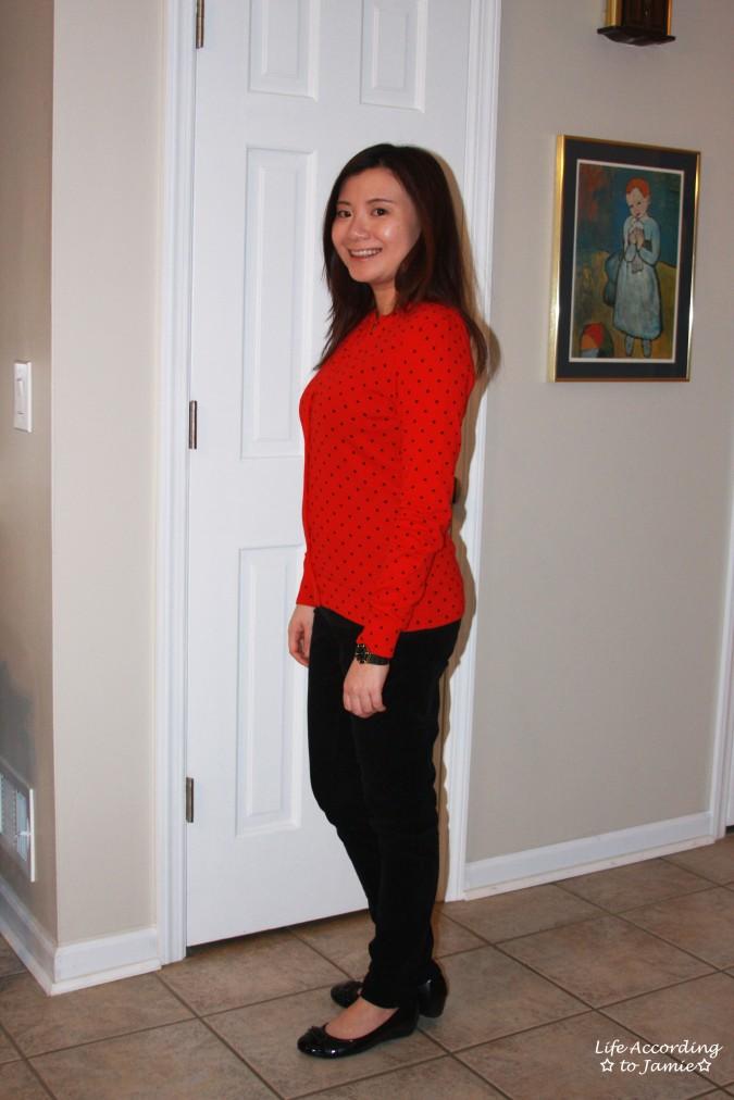 Red & Black Polka Dot Cardigan 2
