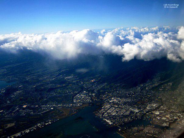 Airplane View - Honolulu