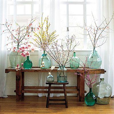 Flowering Branches in Vases