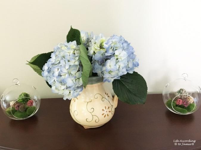 Mini Faux Flowering Tree Globes 4