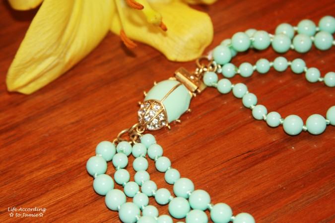 Mint Bead Necklace 1