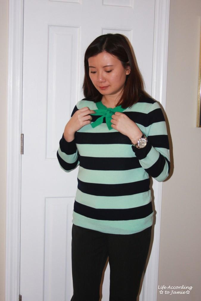 Mint + Navy Neck Tie Shirt 5