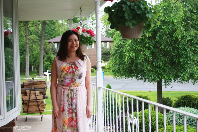 Soft Pink Floral Dress 1