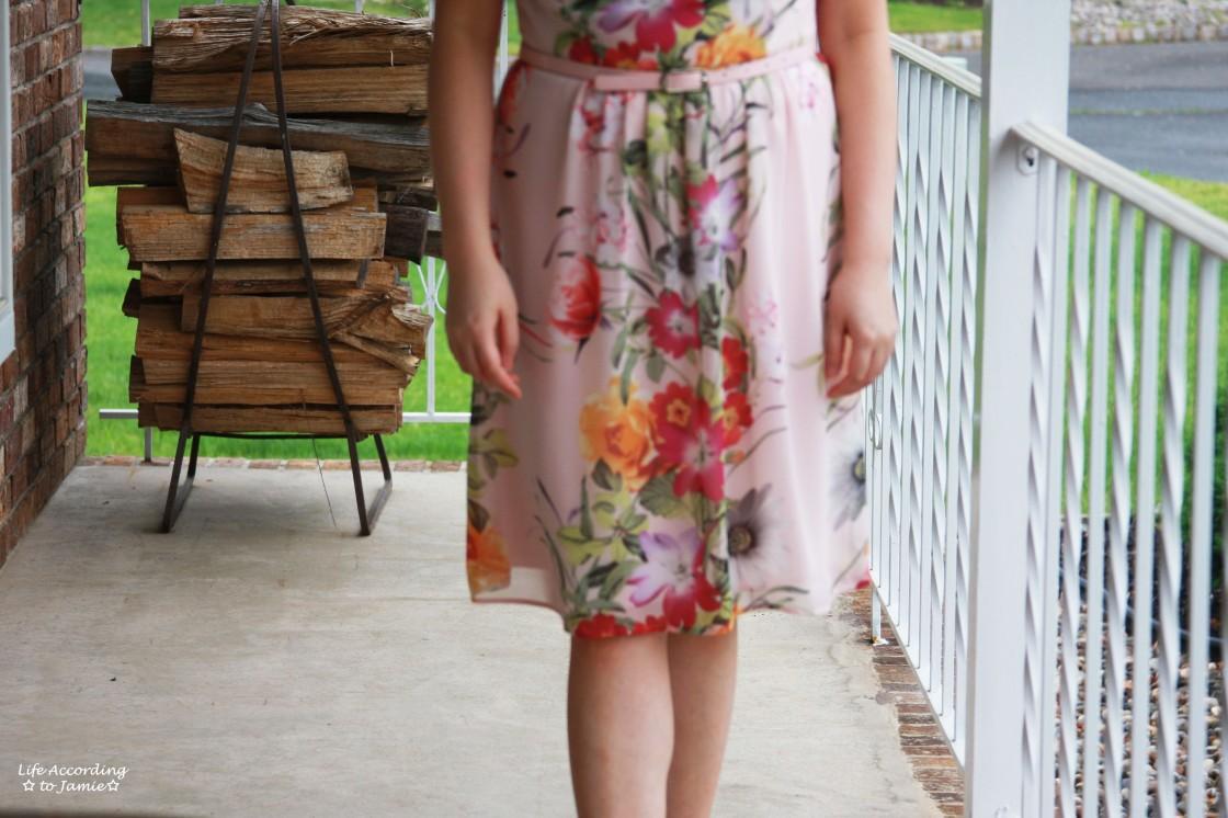 Soft Pink Floral Dress