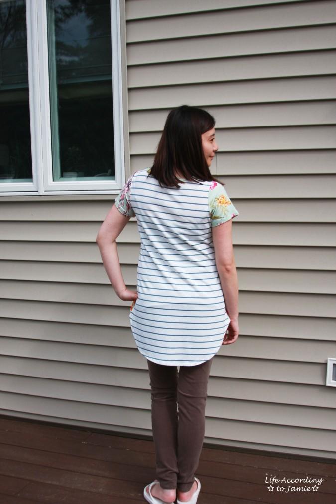 Sage Floral + Stripes 2