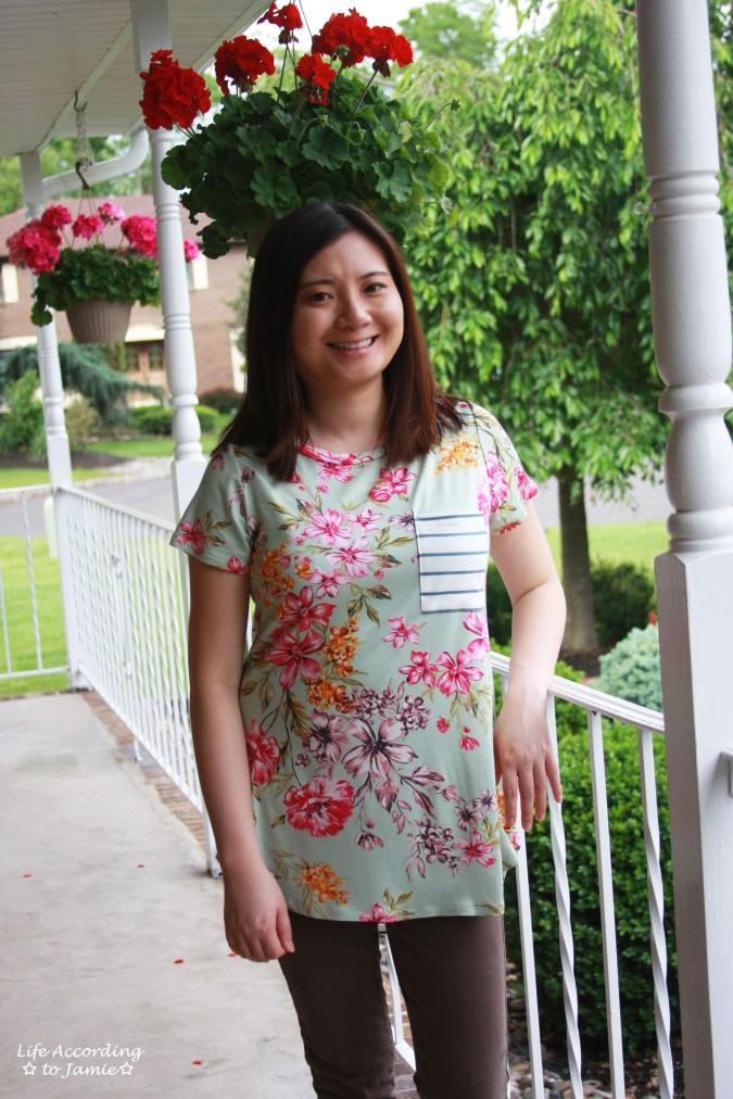 Sage Floral + Stripes 3