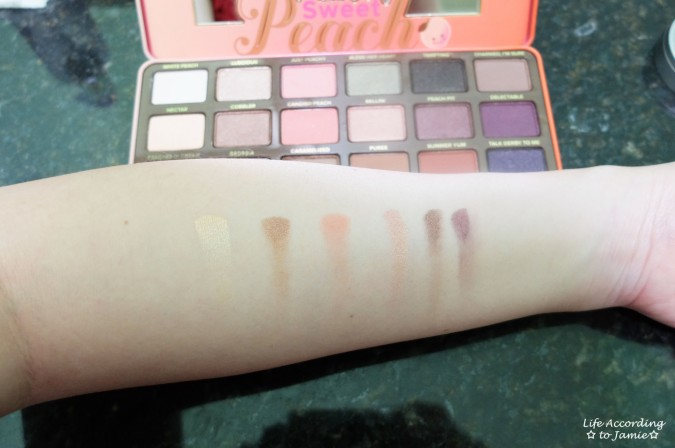 Sweet Peach Palette - Swatches 1
