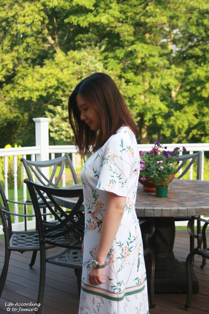 White Floral Shift Dress 1
